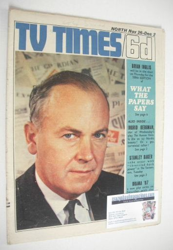 <!--1966-11-26-->TV Times magazine - Brian Inglis cover (26 November - 2 De