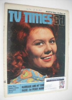 TV Times magazine - Sandra Gough cover (12-18 November 1966)