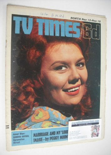 <!--1966-11-12-->TV Times magazine - Sandra Gough cover (12-18 November 196