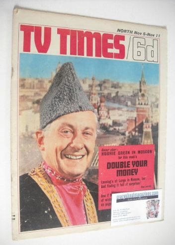 <!--1966-11-05-->TV Times magazine - Hughie Green cover (5-11 November 1966