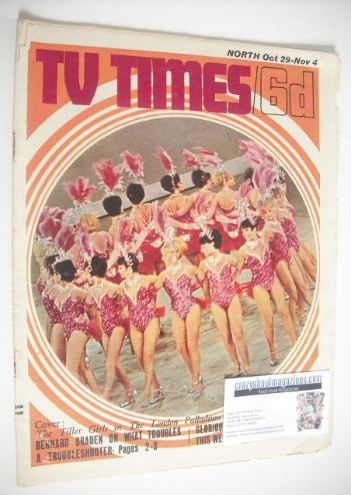 <!--1966-10-29-->TV Times magazine - The Tiller Girls cover (29 October - 4