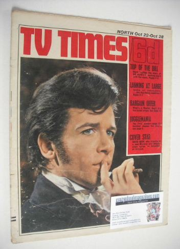 <!--1966-10-22-->TV Times magazine - David Buck cover (22-28 October 1966)