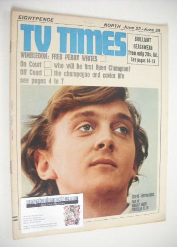 <!--1968-06-22-->TV Times magazine - David Hemmings cover (22-28 June 1968)