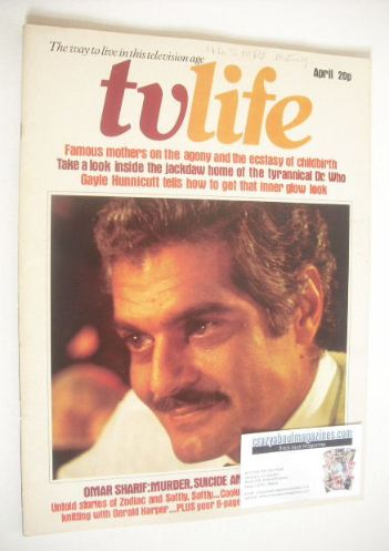 <!--1974-04-->TV Life magazine - Omar Sharif cover (April 1974)