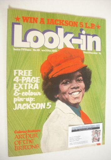 <!--1972-12-02-->Look In magazine - Michael Jackson cover (2 December 1972)