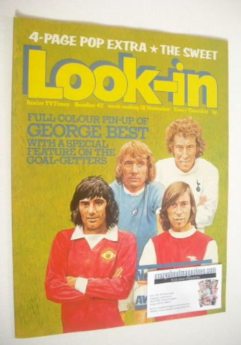 <!--1972-11-18-->Look In magazine - Football Stars cover (18 November 1972)