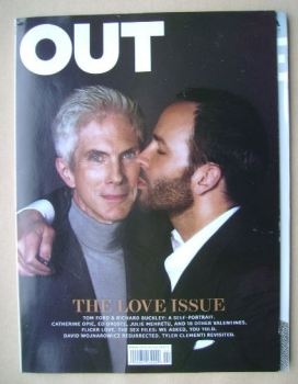 Out magazine - Tom Ford and Richard Buckley cover (February 2011)