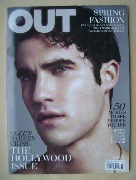 Out magazine - Darren Criss cover (March 2011)