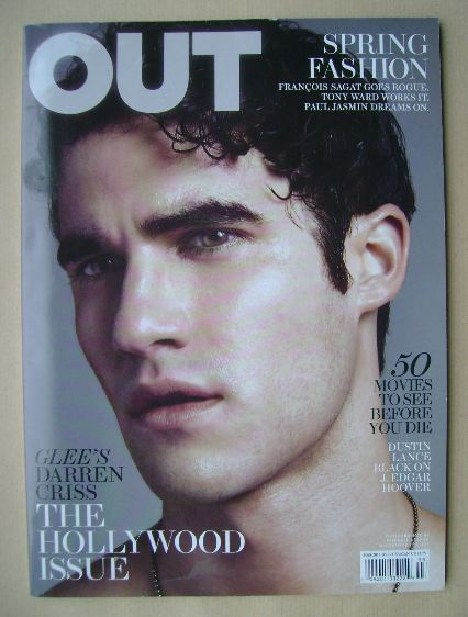 <!--2011-03-->Out magazine - Darren Criss cover (March 2011)