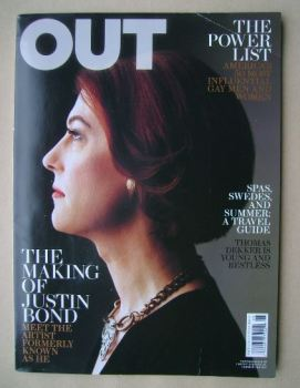 Out magazine - Justin Bond cover (May 2011)