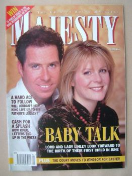 Majesty magazine - Lord and Lady Linley cover (April 1999 - Volume 20 No 4)