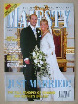 Majesty magazine - Prince Edward and Sophie Rhys-Jones cover (July 1999 - Volume 20 No 7)