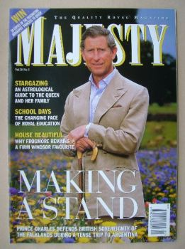 Majesty magazine - Prince Charles cover (May 1999 - Volume 20 No 5)