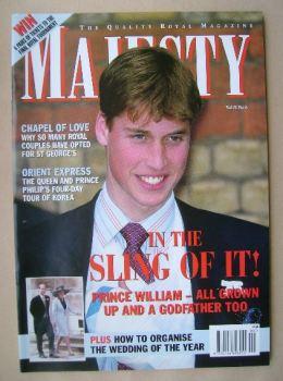 Majesty magazine - Prince William cover (June 1999 - Volume 20 No 6)