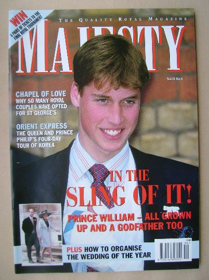 <!--1999-06-->Majesty magazine - Prince William cover (June 1999 - Volume 2