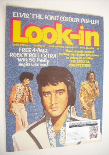 <!--1972-10-14-->Look In magazine - Elvis Presley cover cover (14 October 1