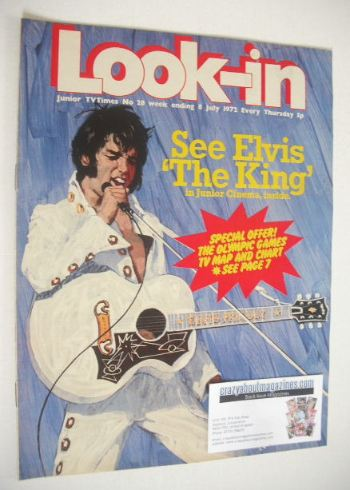 Look In Magazine Elvis Cover 8 July 1972