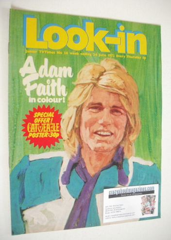 <!--1972-06-24-->Look In magazine - Adam Faith cover (24 June 1972)
