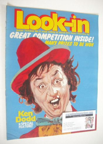 <!--1972-03-25-->Look In magazine - Ken Dodd cover (25 March 1972)