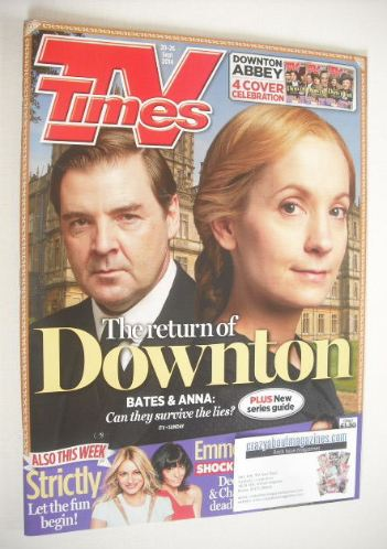 <!--2014-09-20-->TV Times magazine - Downton Abbey cover (20-26 September 2