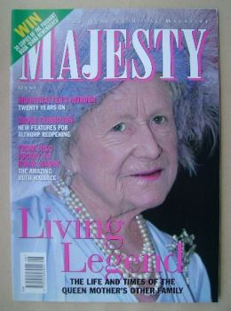 Majesty magazine - The Queen Mother cover (August 1999 - Volume 20 No 8)