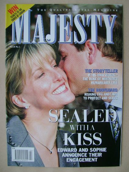 <!--1999-02-->Majesty magazine - Prince Edward and Sophie Rhys-Jones cover