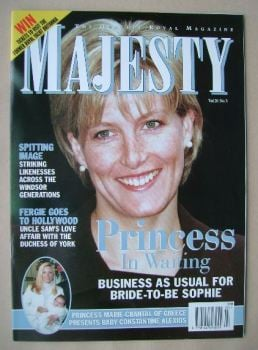 Majesty magazine - Sophie Rhys-Jones cover (March 1999 - Volume 20 No 3)