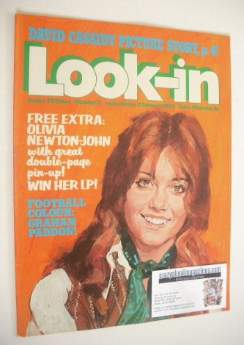 <!--1973-02-03-->Look In magazine - Olivia Newton-John cover (3 February 19