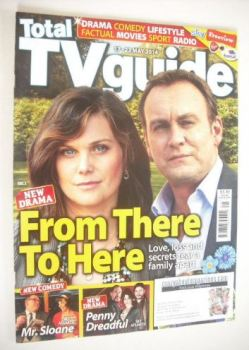 Total TV Guide magazine - Philip Glenister and Liz White cover (17-23 May 2014)