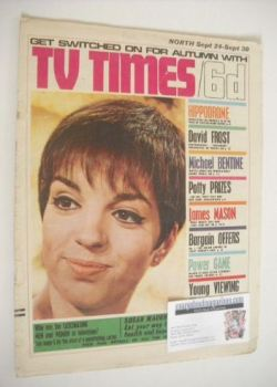 <!--1966-09-24-->TV Times magazine - Liza Minnelli cover (24-30 September 1966)