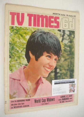 <!--1966-07-16-->TV Times magazine - Georgina Ward cover (16-22 July 1966)