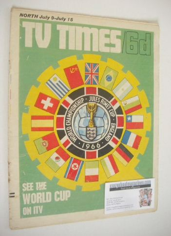 <!--1966-07-09-->TV Times magazine - World Cup cover (9-15 July 1966)