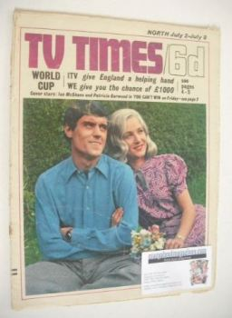 <!--1966-07-02-->TV Times magazine - Ian McShane and Patricia Garwood cover (2-8 July 1966)