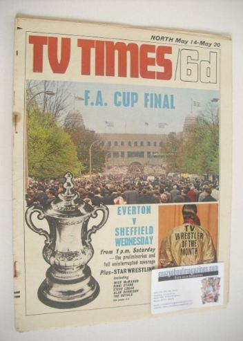 <!--1966-05-14-->TV Times magazine - F.A. Cup Final cover (14-20 May 1966)