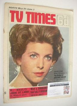 TV Times magazine - Billie Whitelaw cover (28 May - 3 June 1966)