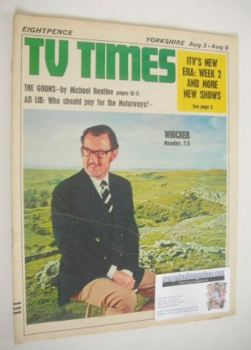 TV Times magazine - Alan Whicker cover (3-9 August 1968)