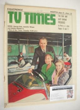 TV Times magazine - George Cole, Jennifer Wilson and Zuleika Robson cover (6-12 January 1968)