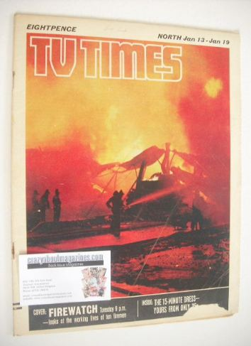 <!--1968-01-13-->TV Times magazine - Firewatch cover (13-19 January 1968)