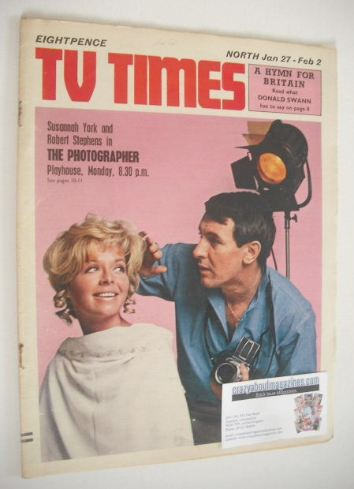 <!--1968-01-27-->TV Times magazine - Susannah York and Robert Stephens cove