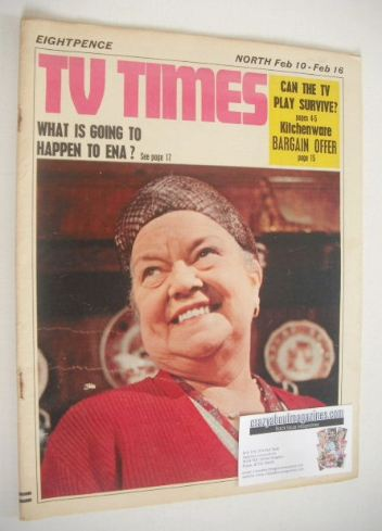 <!--1968-02-10-->TV Times magazine - Violet Carson cover (10-16 February 19