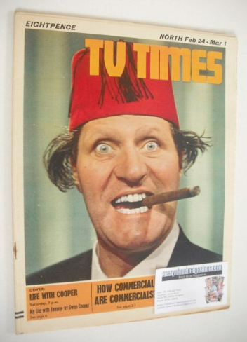 <!--1968-02-24-->TV Times magazine - Tommy Cooper cover (24 February - 1 Ma