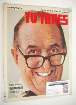 TV Times magazine - Stanley Holloway cover (24-30 August 1968)