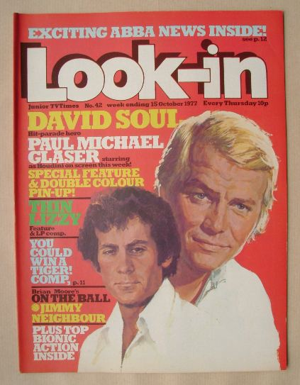 <!--1977-10-15-->Look In magazine - David Soul / Paul Michael Glaser cover