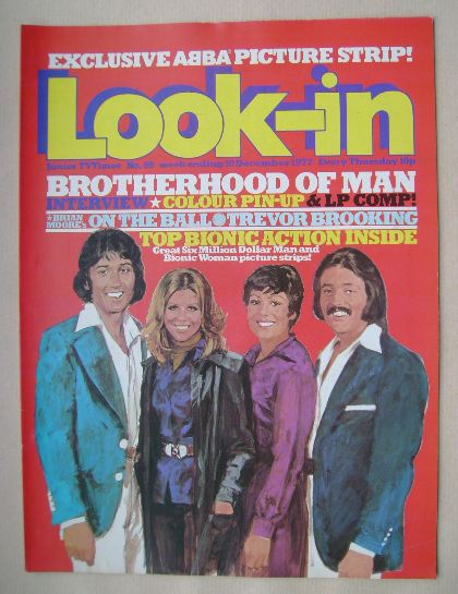 <!--1977-12-10-->Look In magazine - Brotherhood Of Man cover (10 December 1