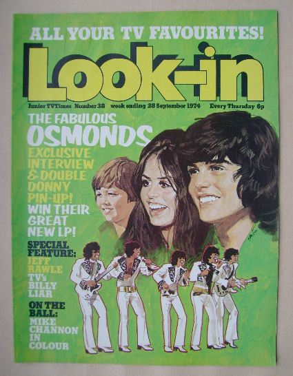 <!--1974-09-28-->Look In magazine - The Osmonds cover (28 September 1974)