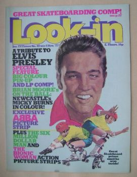 Look In magazine - Elvis Presley cover (5 November 1977)