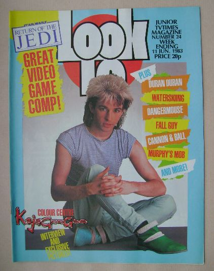 <!--1983-06-11-->Look In magazine - Limahl cover (11 June 1983)