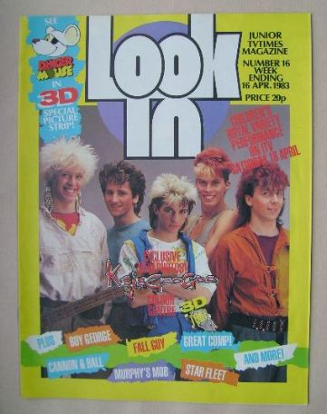 <!--1983-04-16-->Look In magazine - Kajagoogoo cover (16 April 1983)