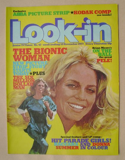 <!--1977-11-19-->Look In magazine - The Bionic Woman cover (19 November 197