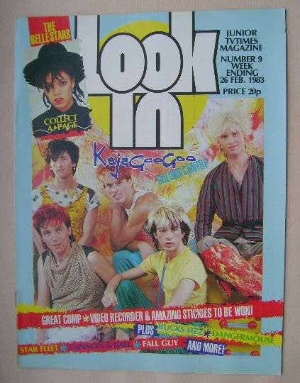 <!--1983-02-26-->Look In magazine - Kajagoogoo cover (26 February 1983)